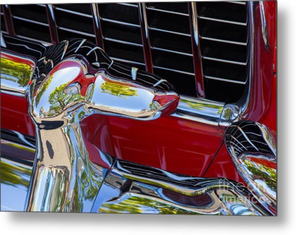 1955 Chevy Coupe Grill Metal Print