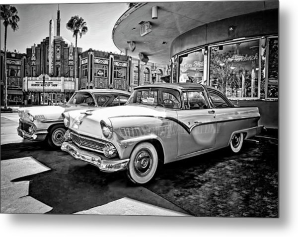 1955 Fairlane Crown Victoria Bw Metal Print