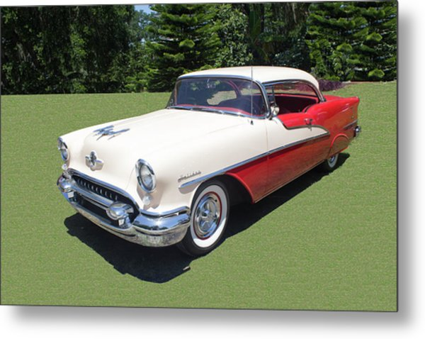 1955 Oldsmobile Super 88 Holiday Metal Print