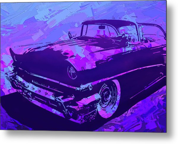 1956 Mercury Hardtop Custom Pop Violet Metal Print