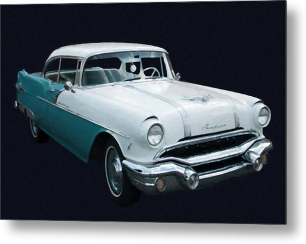 1956 Pontiac Star Chief Digital Oil Metal Print