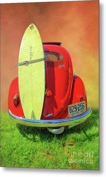 1957 Beetle Oval Metal Print