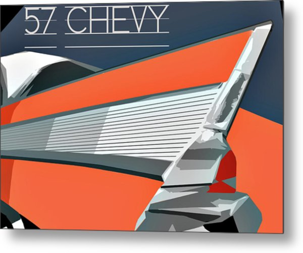 1957 Chevy Art Design By John Foster Dyess Metal Print