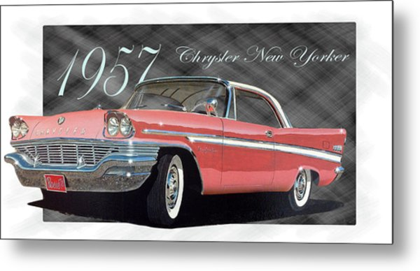 1957 Chrysler New Yorker Metal Print