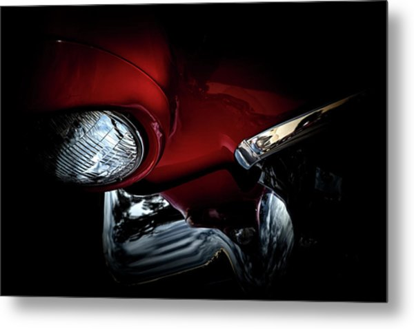 Metal Print featuring the photograph 1957 Ford Thunderbird, No.6 by Eric Christopher Jackson