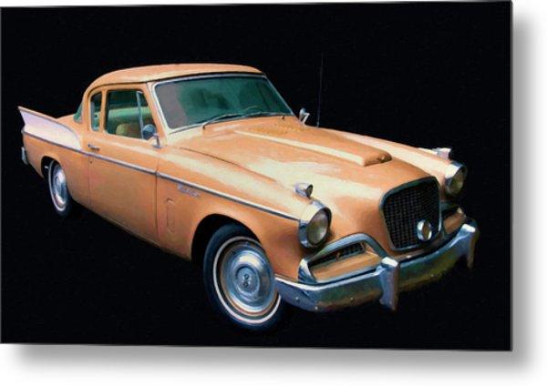 1957 Studebaker Golden Hawk Digital Oil Metal Print
