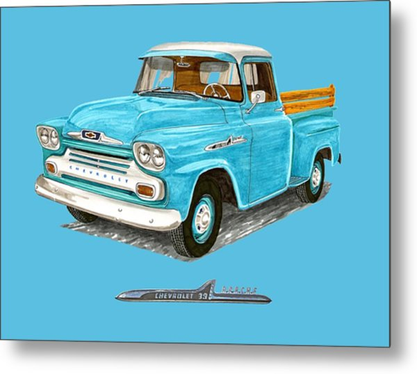 Apache Pick Up Truck Metal Print