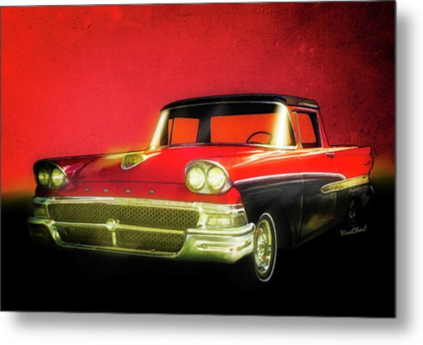 1958 Ford Ranchero 1st Generation Metal Print