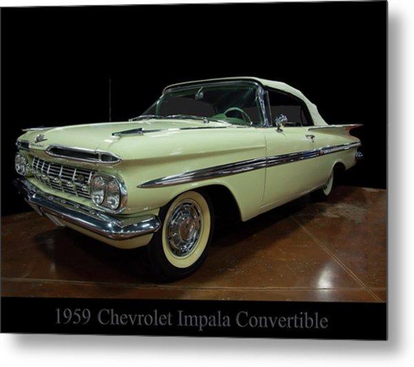 1959 Chevy Impala Convertible Metal Print