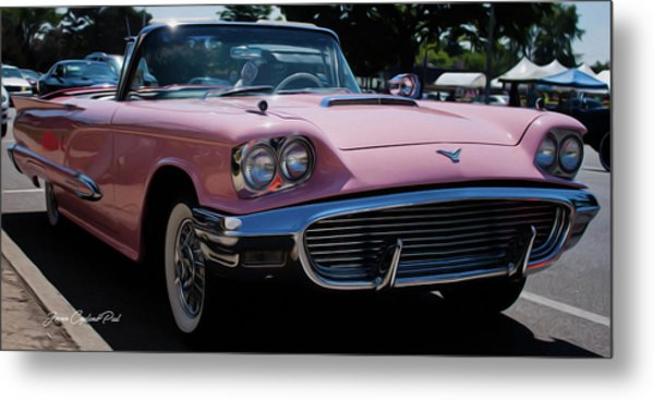1959 Ford Thunderbird Convertible Metal Print