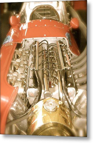 1959 Tecnia Meccanica Maserati 250f Engine Detail Metal Print