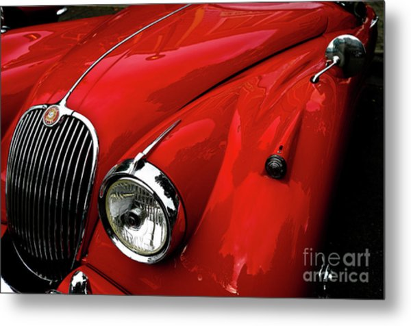 Red Jaguar Metal Print