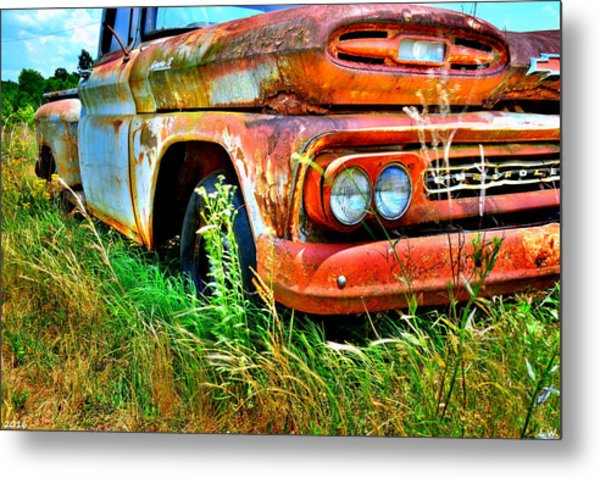 Metal Print featuring the photograph 1961 Chevrolet Apache 10 5 by Lisa Wooten