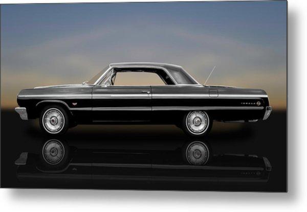 1964 Chevy Impala Super Sport Hardtop  -  1964chimp9591 Metal Print