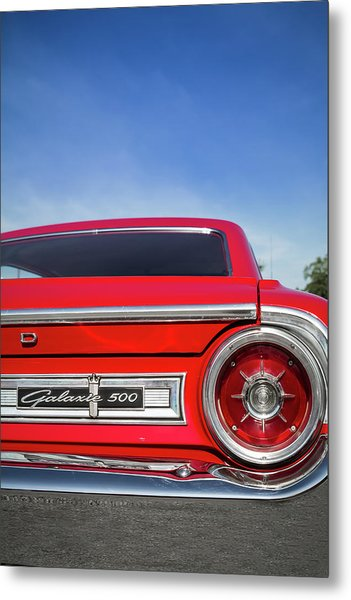 1964 Ford Galaxie 500 Taillight And Emblem Metal Print