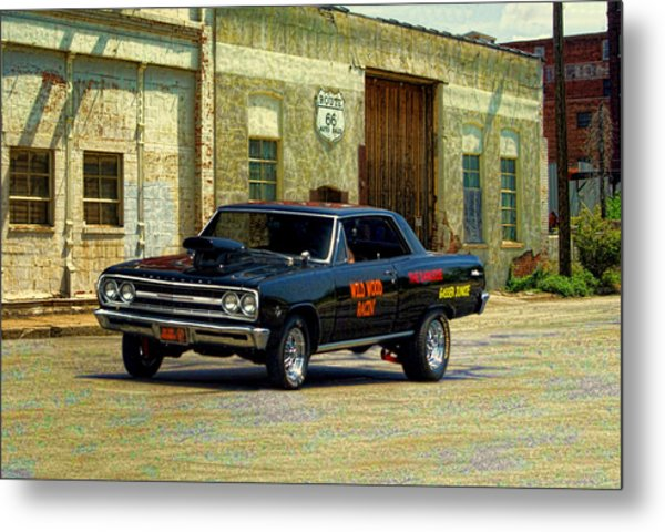 Metal Print featuring the photograph 1965 Chevelle Gasser by Tim McCullough