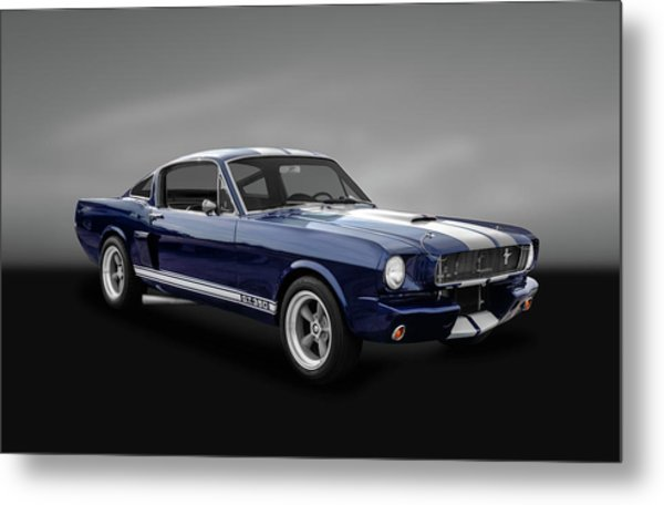 1965 Shelby Ford Mustang Gt 350 Fastback - 65fdmusgt973 Metal Print