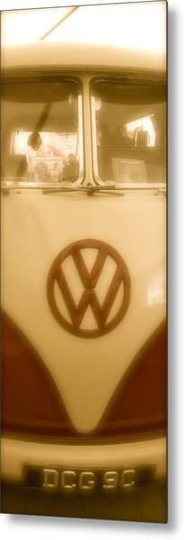 1965 Vw Camper Van Type II Split Screen Metal Print