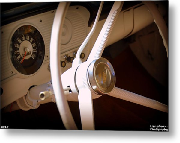 Metal Print featuring the photograph 1966 Ford F100 Interior by Lisa Wooten