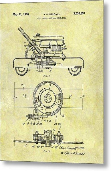 1966 Mower Patent Metal Print