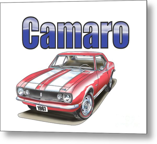 Metal Print featuring the digital art 1967 Camaro by Thomas J Herring
