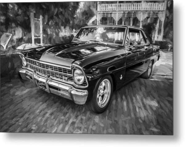 1967 Chevrolet Nova Super Sport Painted Bw 1 Metal Print