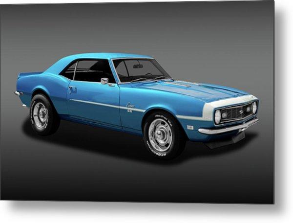 1968 Chevrolet Camaro Super Sport 350   -  1968chevcamaross350fa170414 Metal Print