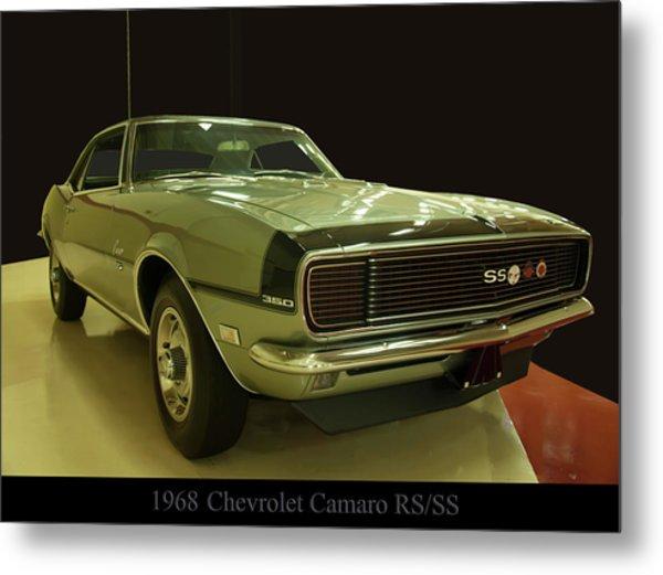 1968 Chevy Camaro Rs-ss Metal Print