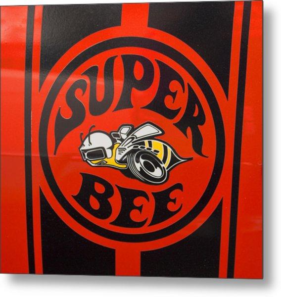 1968 Dodge Coronet Super Bee Emblem Metal Print