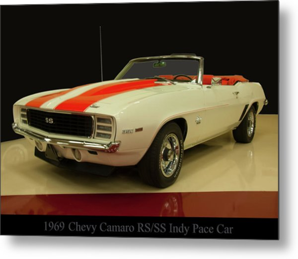 1969 Chevy Camaro Rs/ss Indy Pace Car Metal Print