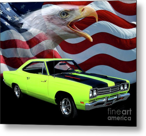 1969 Plymouth Road Runner Tribute Metal Print