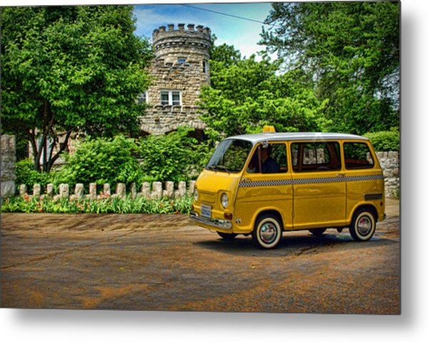 Metal Print featuring the photograph 1969 Subaru Model 360 Taxi by Tim McCullough
