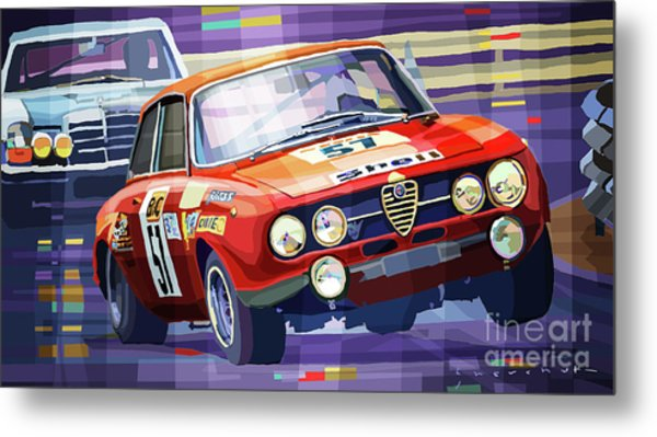 1970 Alfa Romeo Giulia Gt Metal Print