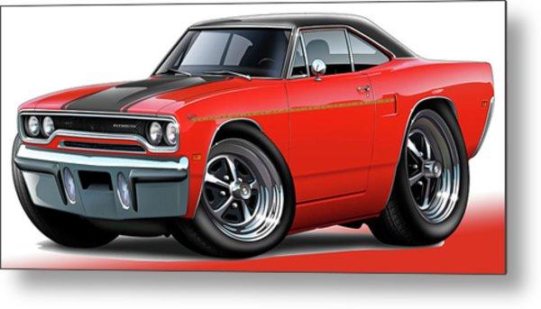 1970 Roadrunner Red Car Metal Print