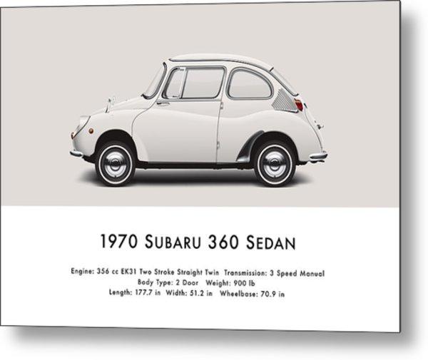 1970 Subaru 360 Metal Print