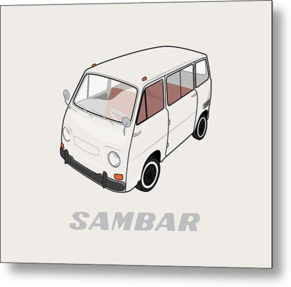 1970 Subaru Sambar Van Metal Print