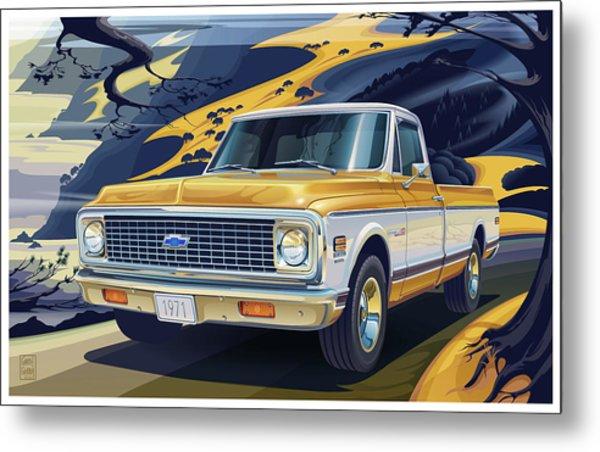 1971 Chevrolet C10 Cheyenne Fleetside 2wd Pickup Metal Print