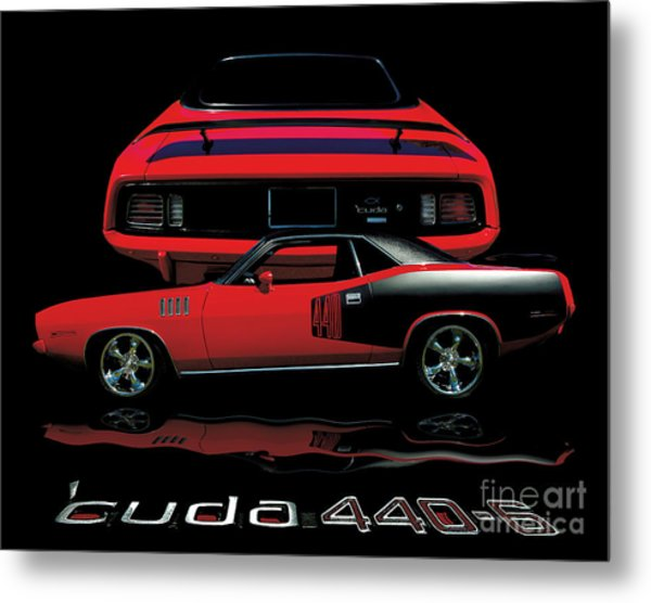 1971 Plymouth Cuda 440 Six Pack    Metal Print