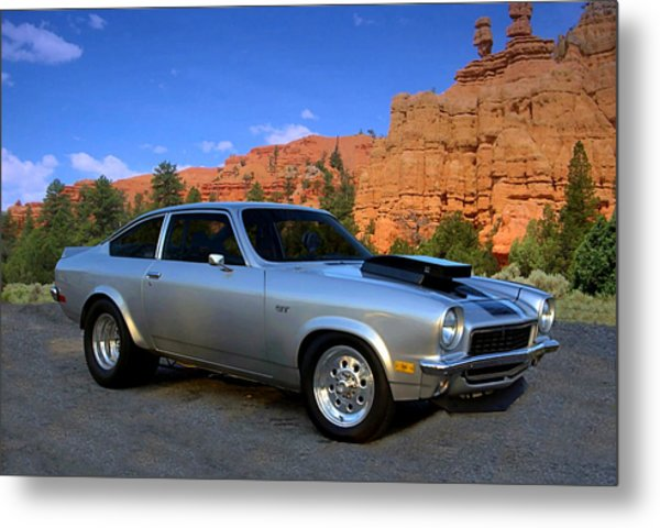 Metal Print featuring the photograph 1973 Chevrolet Vega Pro Street Dragster by Tim McCullough