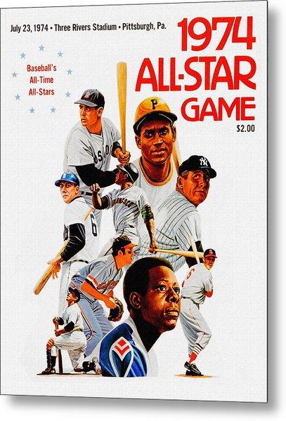 1974 Baseball All Star Game Program Metal Print