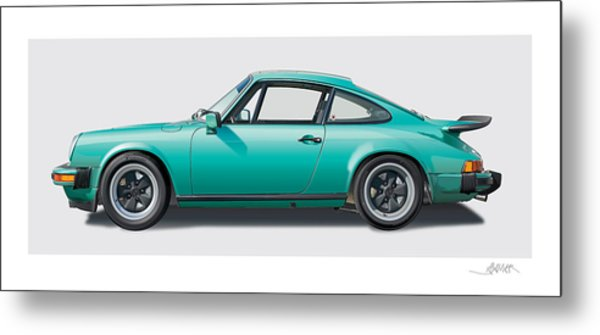 1976 Porsche Euro Carrera 2.7 Illustration Metal Print