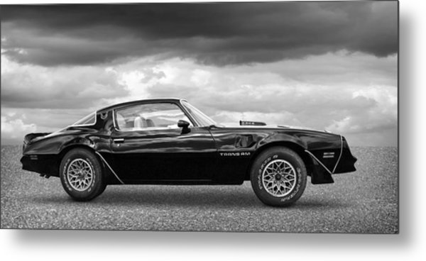 1978 Trans Am In Black And White Metal Print