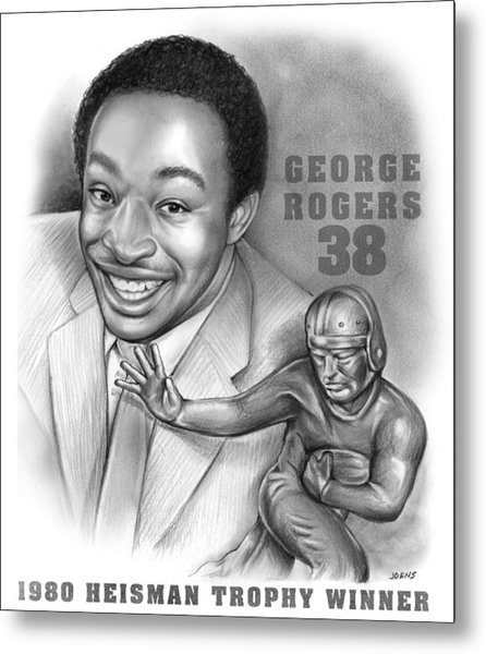 1980 Heisman Winner Metal Print