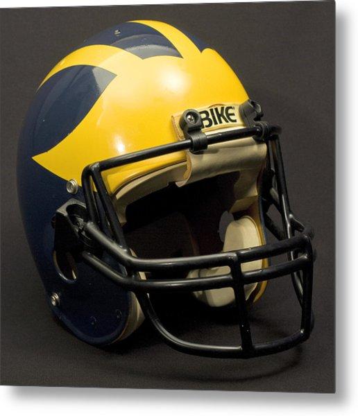 Metal Print featuring the photograph 1980s Wolverine Helmet by Michigan Helmet