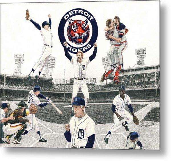 1984 Detroit Tigers Metal Print