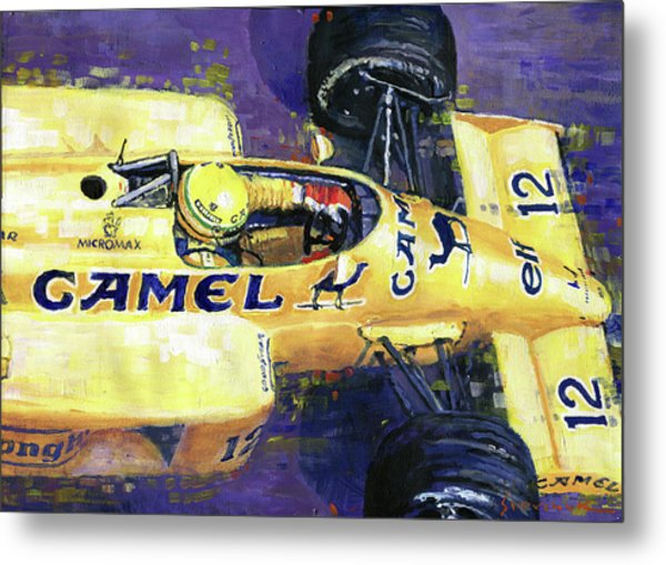 1987 Spa Francorchamps Lotus 99t Ayrton Senna Metal Print