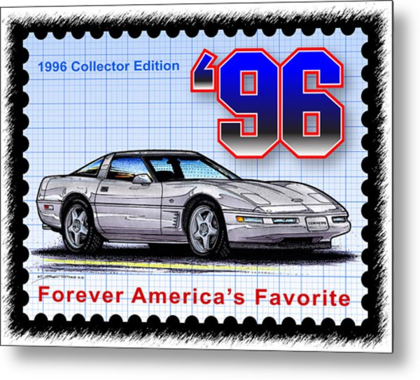 1996 Collector Edition Corvette Metal Print