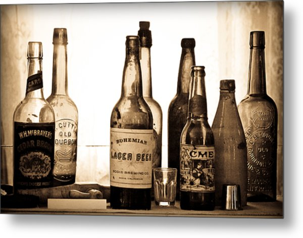 19th Century Liquor Bottles  Metal Print