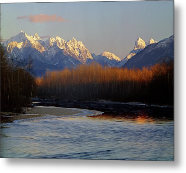 1m4525 Skykomish River And West Central Cascade Mountains Metal Print