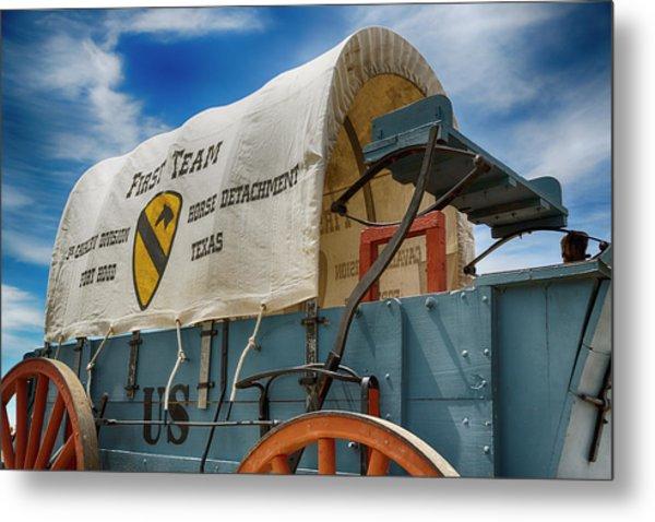 1st Cavalry Division Fort Hood - Horse Detachment Metal Print